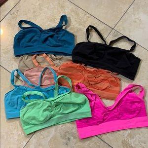 8 light support Hanes spirts bras multi colors